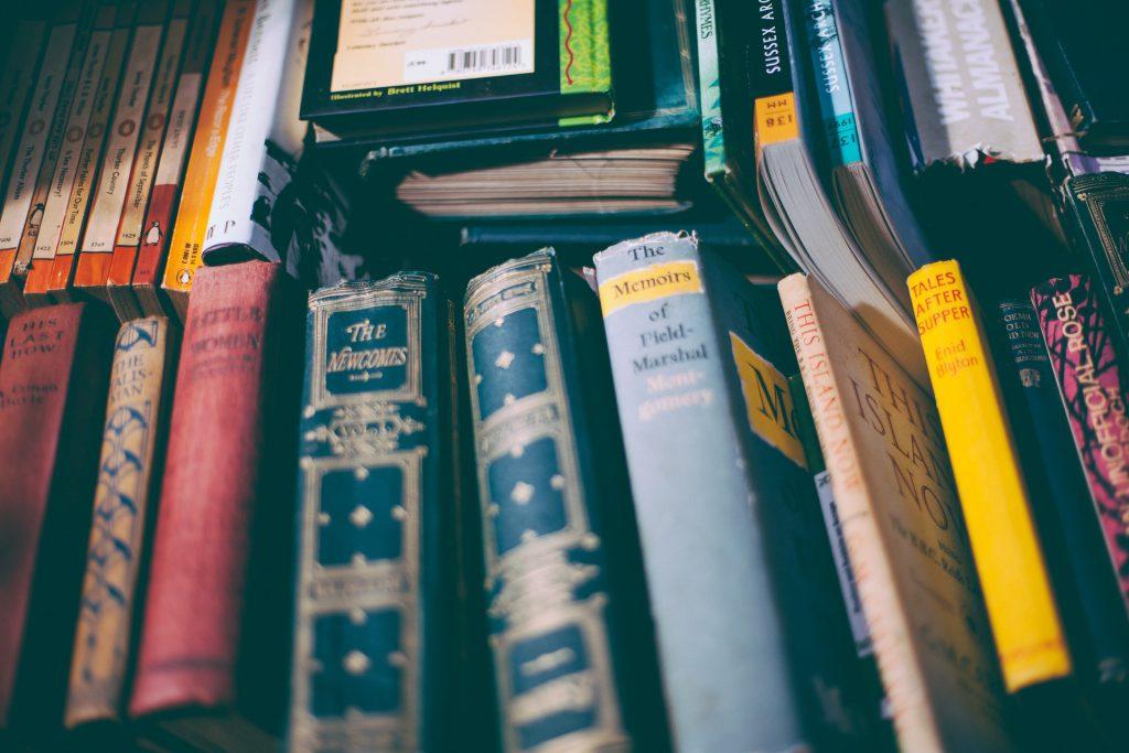 Livros diversos como exemplo de como organizar livros